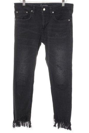 Zara Woman Stretch Jeans schwarz Casual-Look