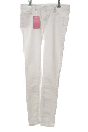 Zara Woman Pantalon strech blanc style décontracté