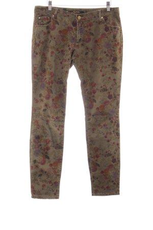 Zara Woman Pantalon strech imprimé allover style décontracté