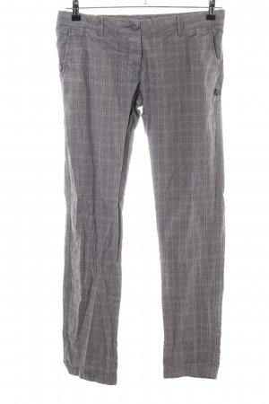 Zara Woman Stretch Trousers light grey check pattern business style