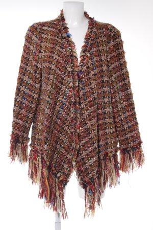 Zara Woman Strick Cardigan Glencheckmuster extravaganter Stil