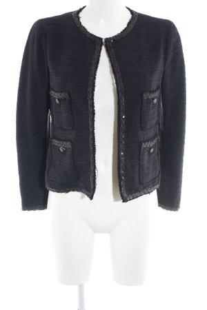 Zara Woman Strickblazer schwarz Zopfmuster Business-Look