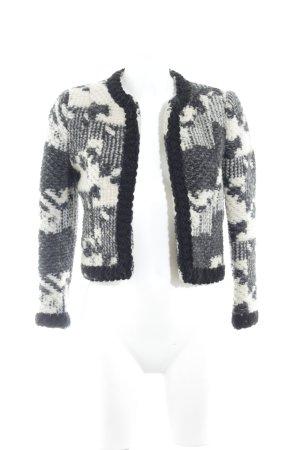 Zara Woman Blazer in maglia beige chiaro-nero soffice