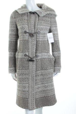 Zara Woman Strickmantel grau-beige Casual-Look