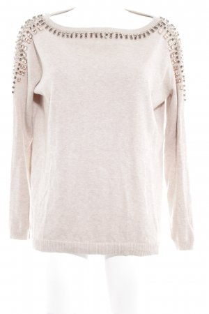 Zara Woman Strickpullover creme meliert Casual-Look