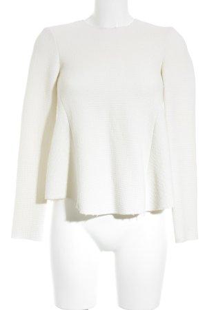 Zara Woman Strickpullover hellbeige Casual-Look