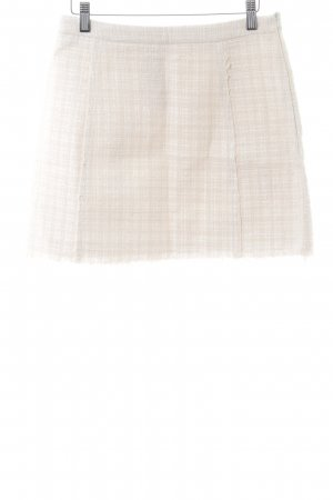 Zara Woman Knitted Skirt natural white check pattern casual look