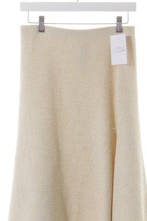 Zara Woman Jupe tricotée beige clair élégant