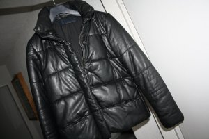 Zara Woman Veste matelassée noir cuir