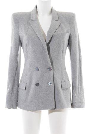 Zara Woman Sweatblazer hellgrau-silberfarben meliert Business-Look
