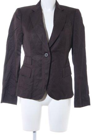 Zara Woman Sweat Blazer dark brown pinstripe business style