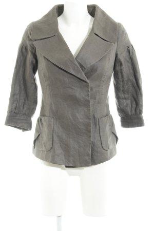 Zara Woman Blazer de tela de sudadera marrón grisáceo moteado
