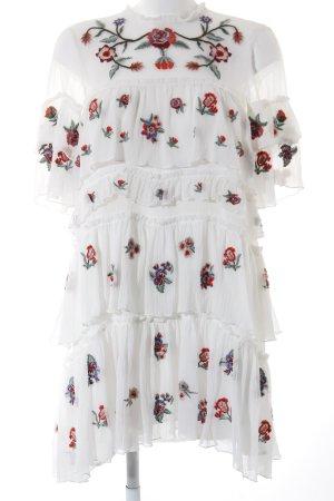 Zara Woman Sweatkleid Blumenmuster 80ies-Stil