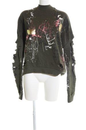 Zara Woman Sweatshirt abstraktes Muster extravaganter Stil