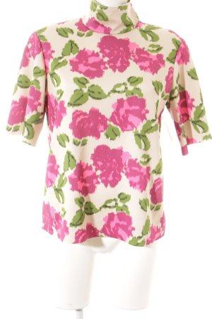 Zara Woman T-Shirt florales Muster Schimmer-Optik
