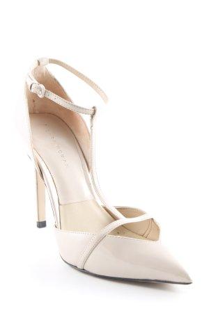 Zara Woman T-Steg-Pumps beige Elegant