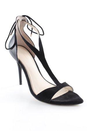 Zara Woman T-Steg-Pumps schwarz klassischer Stil
