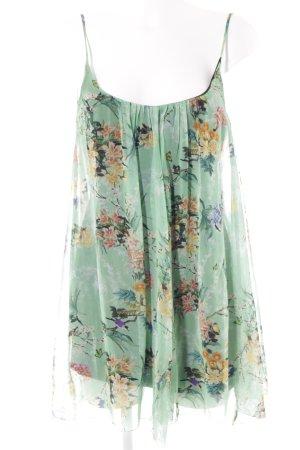 Zara Woman Trägerkleid florales Muster Romantik-Look