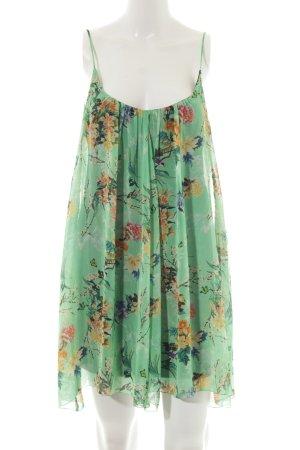Zara Woman Trägerkleid hellgrün florales Muster Casual-Look
