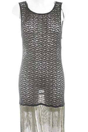 Zara Woman Trägerkleid schwarz-goldfarben Casual-Look