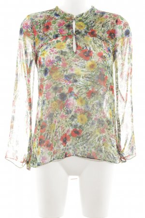 Zara Woman Transparenz-Bluse Blumenmuster Business-Look