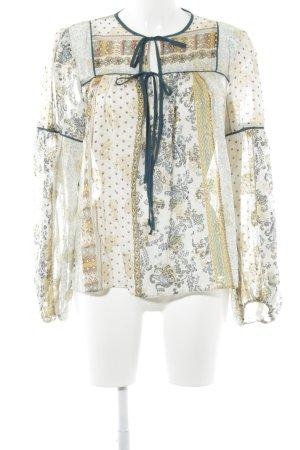Zara Woman Transparenz-Bluse abstraktes Muster extravaganter Stil