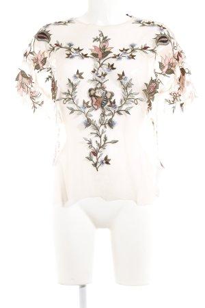 Zara Woman Blusa trasparente motivo floreale elegante