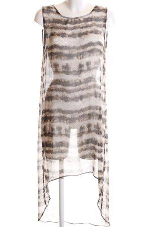 Zara Woman Transparenz-Bluse bronzefarben-wollweiß abstraktes Muster