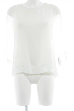 Zara Woman Transparenz-Bluse creme Elegant