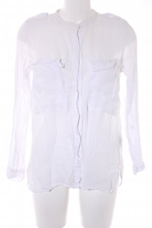 Zara Woman Transparenz-Bluse weiß Casual-Look