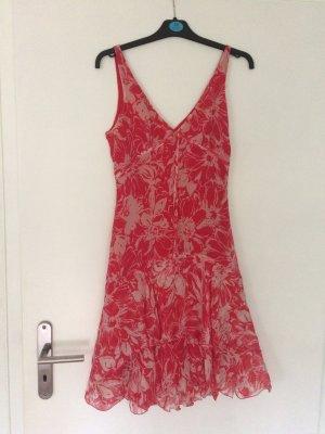 Zara Woman traumhaftes Sommerkleid Gr 36 Chiffon Blumen wie neu