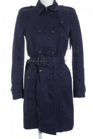 Zara Woman Trench Coat dark blue casual look