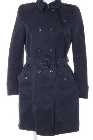 Zara Woman Trenchcoat dunkelblau klassischer Stil