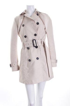 Zara Woman Trenchcoat hellbeige-schwarz Elegant