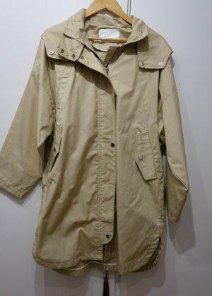 Zara Woman Trenchcoat Mantel Gr. L (40/42) beige Kapuze oversized