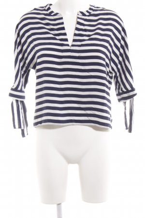 Zara Woman Jersey marinero blanco-azul estampado a rayas look casual