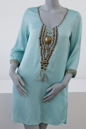 Zara Robe tunique multicolore viscose