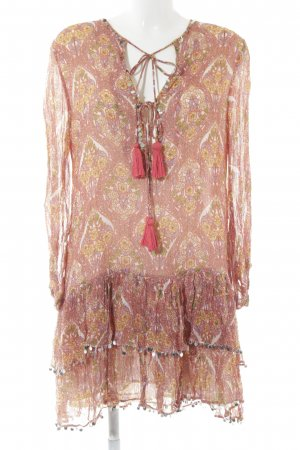 Zara Woman Tunikakleid florales Muster Boho-Look