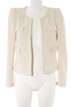 Zara Woman Tweedblazer creme Business-Look