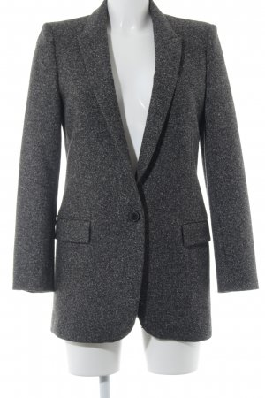 Zara Woman Tweedblazer dunkelgrau-schwarz Business-Look