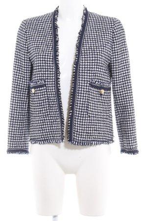 Zara Woman Tweedblazer Hahnentrittmuster klassischer Stil
