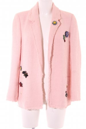 Zara Woman Tweedblazer rosé Casual-Look