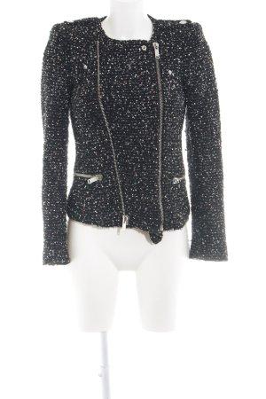 Zara Woman Übergangsjacke schwarz-weiß meliert Street-Fashion-Look