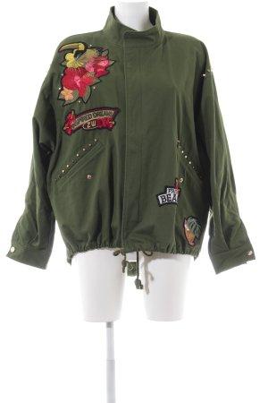 Zara Woman Übergangsjacke khaki extravaganter Stil
