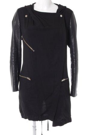 Zara Woman Übergangsjacke schwarz Biker-Look