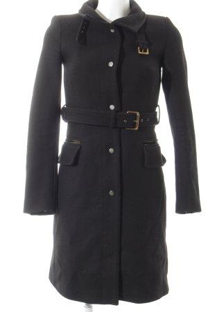 Zara Woman Übergangsjacke schwarz Schnallenelemente