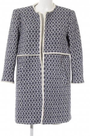 Zara Woman Between-Seasons-Coat dark blue-white abstract pattern casual look