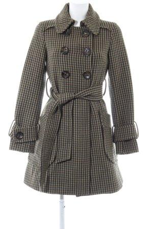 Zara Woman Übergangsmantel graugrün-dunkelgrün Karomuster Casual-Look