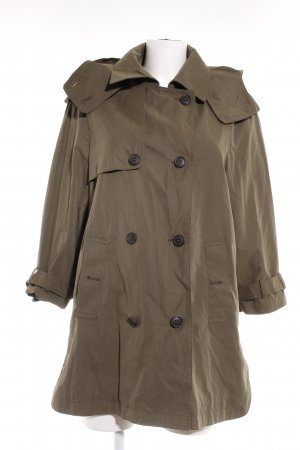 Zara Woman Between-Seasons-Coat green grey casual look