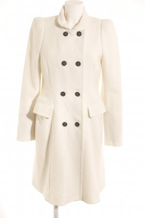 Zara Woman Between-Seasons-Coat white casual look
